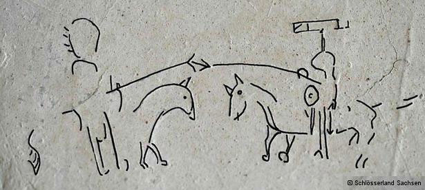 Лицарські комікси на стінах Саксонського замку
