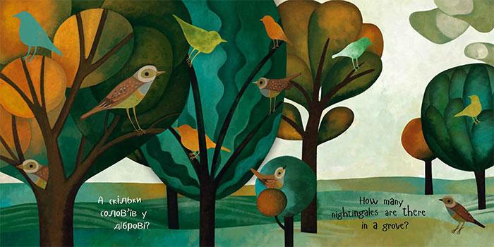 книжка-білінгва для дітей 3-7 років «Скільки» / How Many?