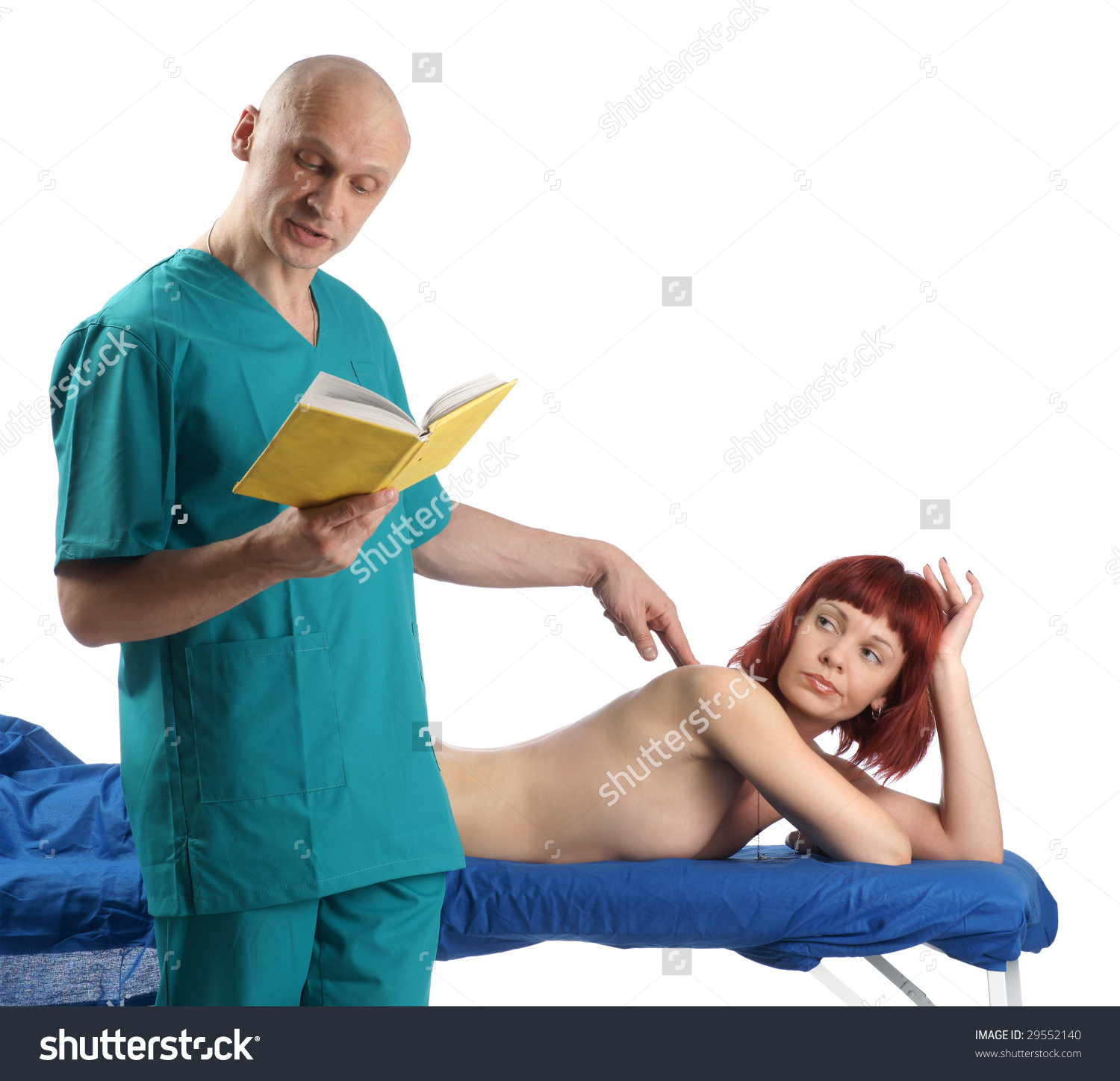 stock-photo-scene-with-massage-therapist-and-his-angry-client-isolated-on-white-29552140
