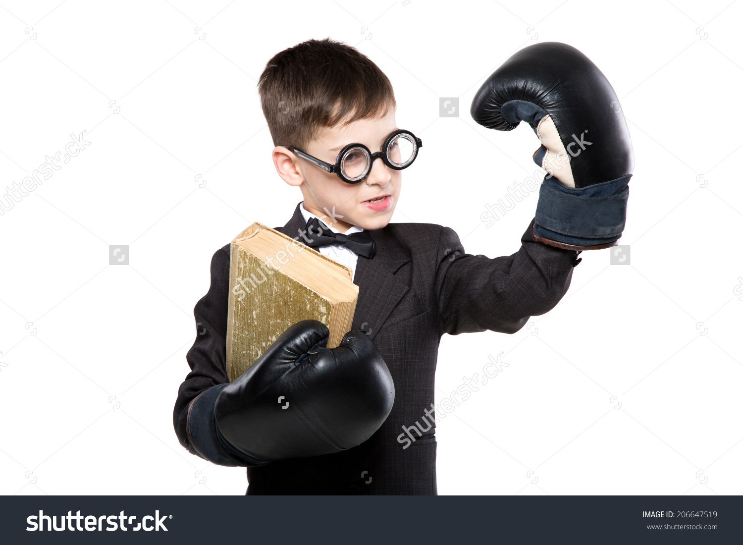 stock-photo-schoolboy-reading-a-book-in-boxing-gloves-and-suit-school-and-education-206647519