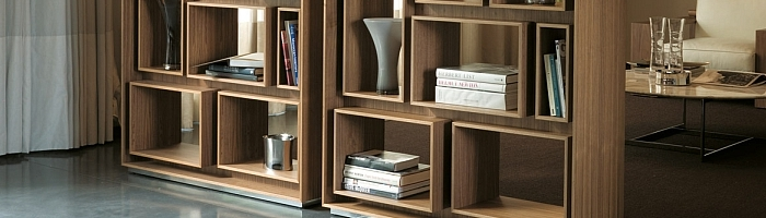 Beautiful-bookshelf-in-wood-provides-plenty-of-display-space