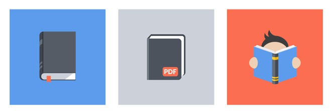 free-flat-book-vector-icon-set