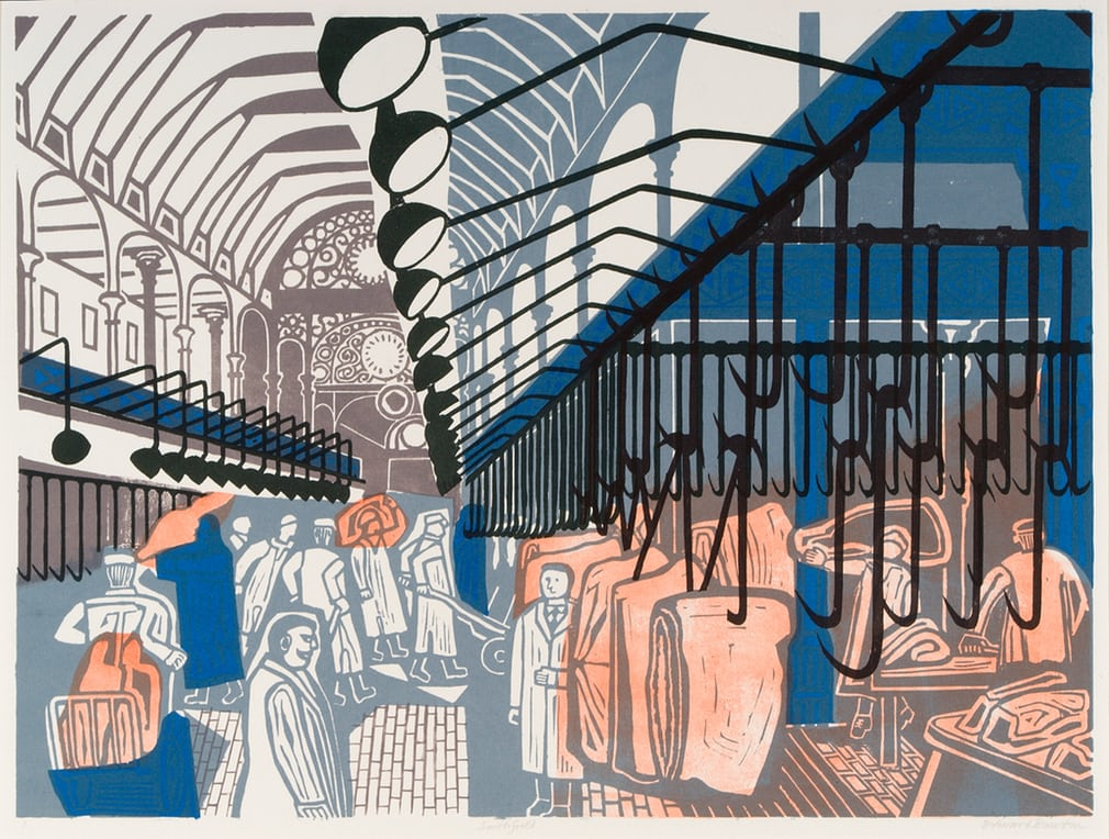 10_Smithfield Market, 1967, lithograph after linocut.