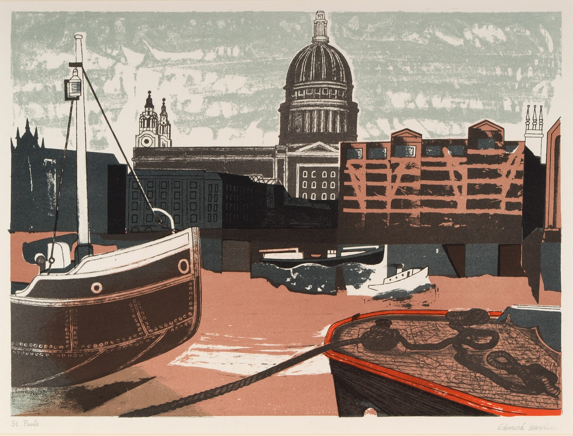 11_St Paul's, 1958, colour autolithograph