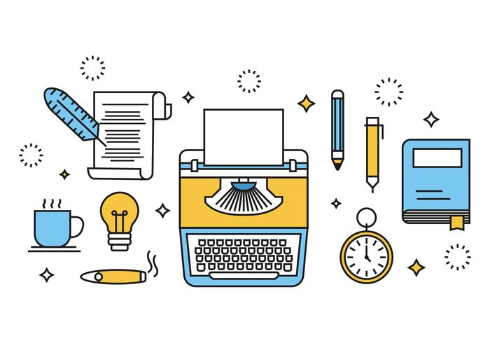 free-writing-concept-vector-illustration