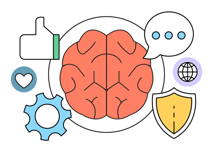intelligence-and-brain-vector-icons