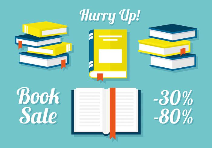free-set-of-books-in-flat-design-vector-illustration