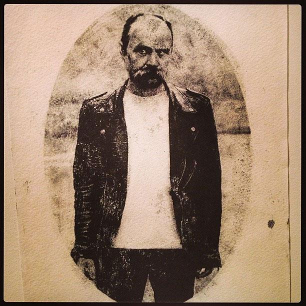 Taras Shevchenko handprint