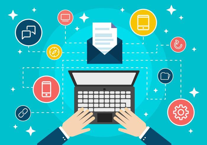 free-flat-design-digital-marketing-concep-vector